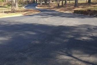 asphalt drive before resurfacing