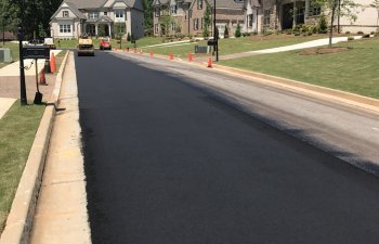 residential asphalt road resurfacing