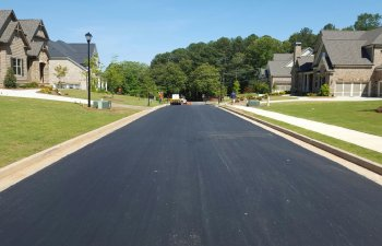 asphalt road resurfacing