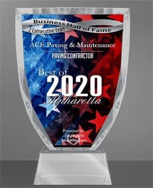 2020 Best of Alpharetta Awards for Paving Contractor, Alpharetta Business Hall of Fame
